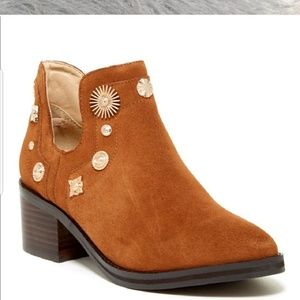 Miista brown ankle booties size 8